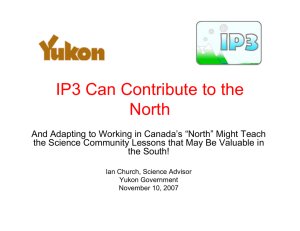 IP3 Can Contribute to the North