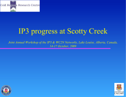 IP3 progress at Scotty Creek