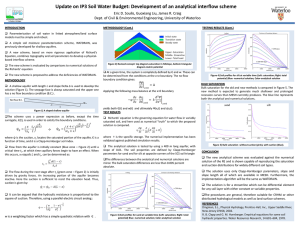 Update on IP3 Soil Water Budget: Development of an analytical interflow...