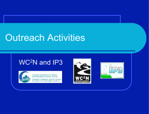 Outreach Activities WC N and IP3 2