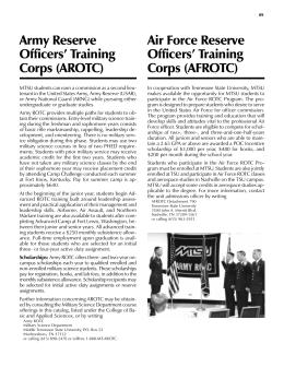 FAQ | ARMY ROTC @ MIT