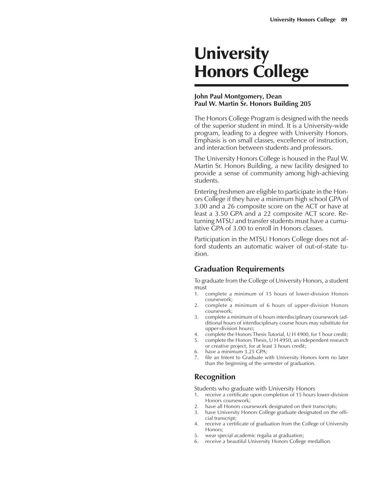 mtsu honors thesis proposal