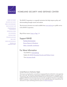 HOMELAND SECURITY AND DEFENSE CENTER
