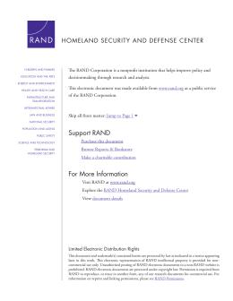 HOMELAND SECURITY AND DEFENSE CENTER