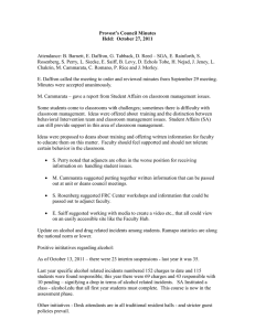 Provost's Council Minutes Held:  October 27, 2011