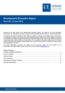 Development Education Digest Issue Six: January 2015