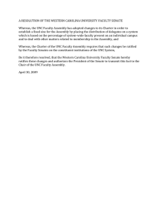 A RESOLUTION OF THE WESTERN CAROLINA UNIVERSITY FACULTY SENATE