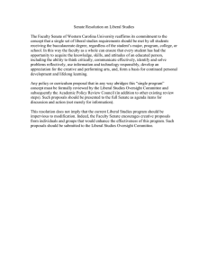 Senate Resolution on Liberal Studies