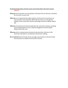 Resolution Requesting a Faculty Liason on the Chancellor's Executive Council  (DRAFT)