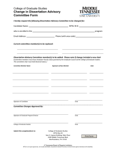 Change in Dissertation Advisory Committee Form