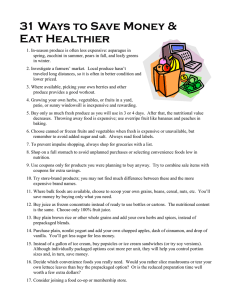 31 Ways to Save Money & Eat Healthier