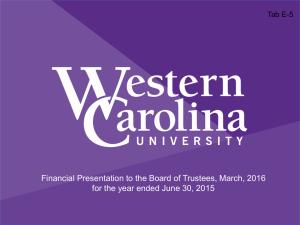 Financial Presentation to the Board of Trustees, March, 2016 Tab E-5