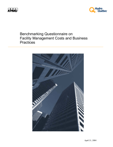 Benchmarking Questionnaire on Facility Management Costs and Business Practices