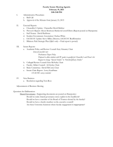 Faculty Senate Meeting Agenda February 19, 2015 3:00-5:00 PM I.