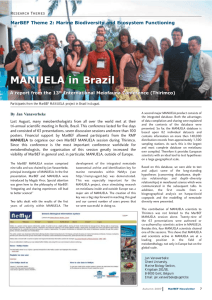 MANUELA in Brazil Research Themes A report from the 13