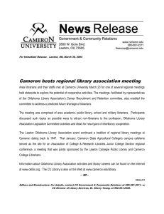 Cameron hosts regional library association meeting