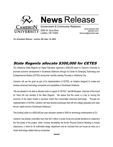State Regents allocate $300,000 for CETES