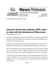 Cameron University students, GPIF ready