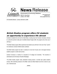 British Studies program offers CU students