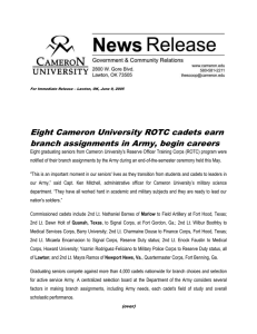 Eight Cameron University ROTC cadets earn