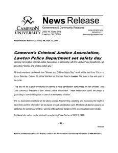 Cameron's Criminal Justice Association, Lawton Police Department set safety day