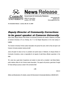 Deputy Director of Community Corrections