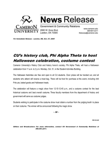 CU's history club, Phi Alpha Theta to host
