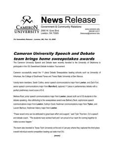 Cameron University Speech and Debate team brings home sweepstakes awards