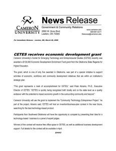 CETES receives economic development grant