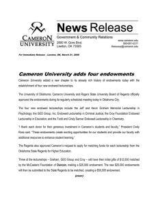 Cameron University adds four endowments