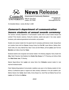 Cameron's department of communication honors students at annual awards ceremony