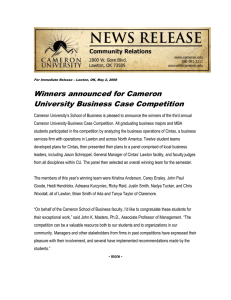 Winners announced for Cameron University Business Case Competition