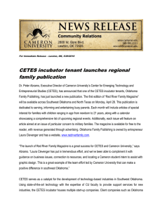 CETES incubator tenant launches regional family publication
