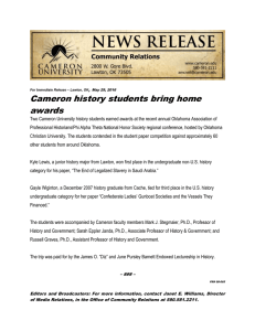 Cameron history students bring home awards ,