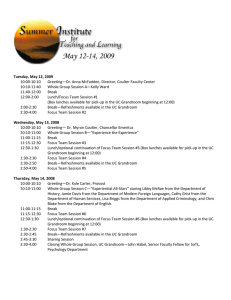 10:00‐10:10  Greeting—Dr. Anna McFadden, Director, Coulter Faculty Center  10:10‐11:40