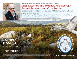Mass Disasters and Forensic Archaeology: Recent Research and Case Studies