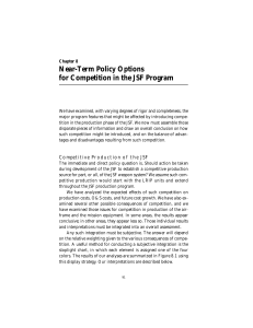 Near-Term Policy Options for Competition in the JSF Program