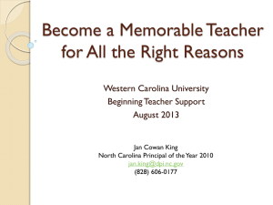 Become a Memorable Teacher for All the Right Reasons Western Carolina University