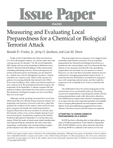 Issue Paper Measuring and Evaluating Local Preparedness for a Chemical or Biological