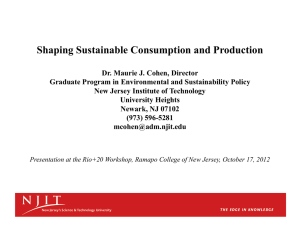 Shaping Sustainable Consumption and Production