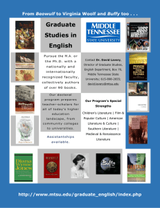 Graduate Studies in English