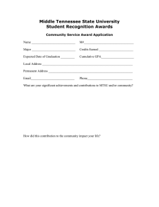 Middle Tennessee State University Student Recognition Awards