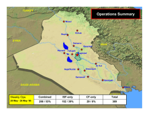 Operations Summary Weekly Ops TURKEY SYRIA