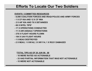 Efforts To Locate Our Two Soldiers