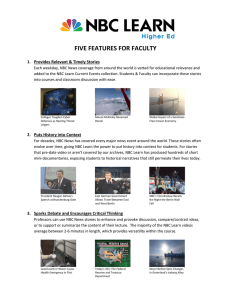 FIVE FEATURES FOR FACULTY  1.  Provides Relevant & Timely Stories