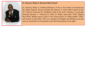 Dr. Clarence Talley, Sr. Receives Merit Award