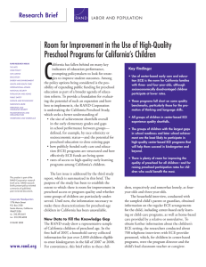 C Room for Improvement in the Use of High-Quality Research Brief