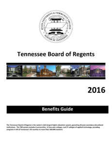 2016 Tennessee Board of Regents Benefits Guide
