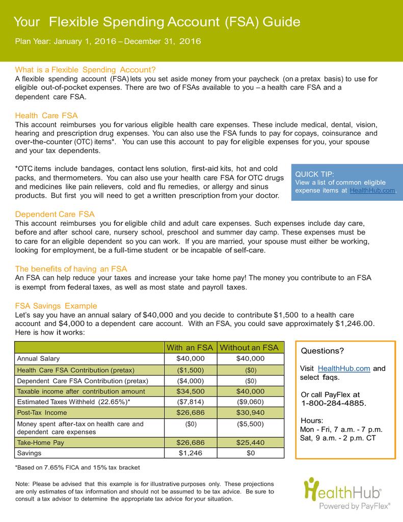 Your Flexible Spending Account (FSA) Guide