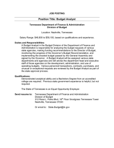 Position Title: Budget Analyst